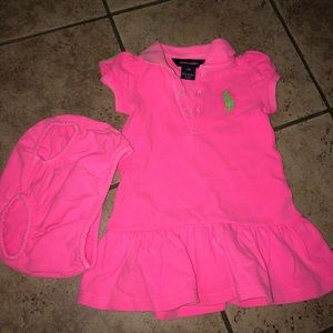 NEW 9-18 month Ralph Lauren polo dress